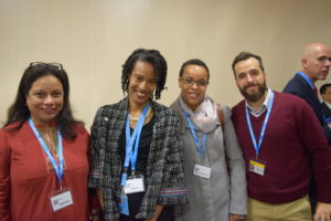 GHC President & Executive Director Loyce Pace (second from left)along with our Patient Champions (from left to right): Joy Roy, Marie Jose Machai, and Bruno Carrattini.