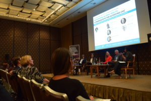 GHC President & Executive Director Loyce Pace moderates NCD Alliance's evening WHA72 side event panel on transforming global health efforts.