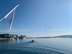 A view of Lake Geneva.