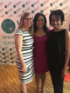 GHC President & Executive Director Loyce Pace joins GHC Board Chair Kate Dodson and Roopa Dhatt, Executive Director of Women in Global Health at the annual Heriones of Health dinner on Sunday, May 19, 2019.